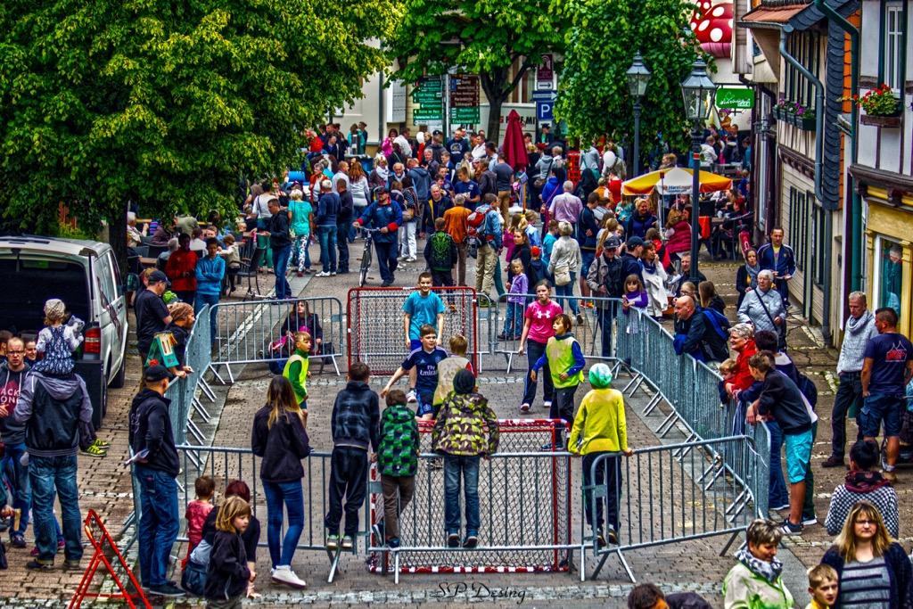 Street Handball Turnier zum 10. Kinder und Straßenfest im Ilsenburg, Germany