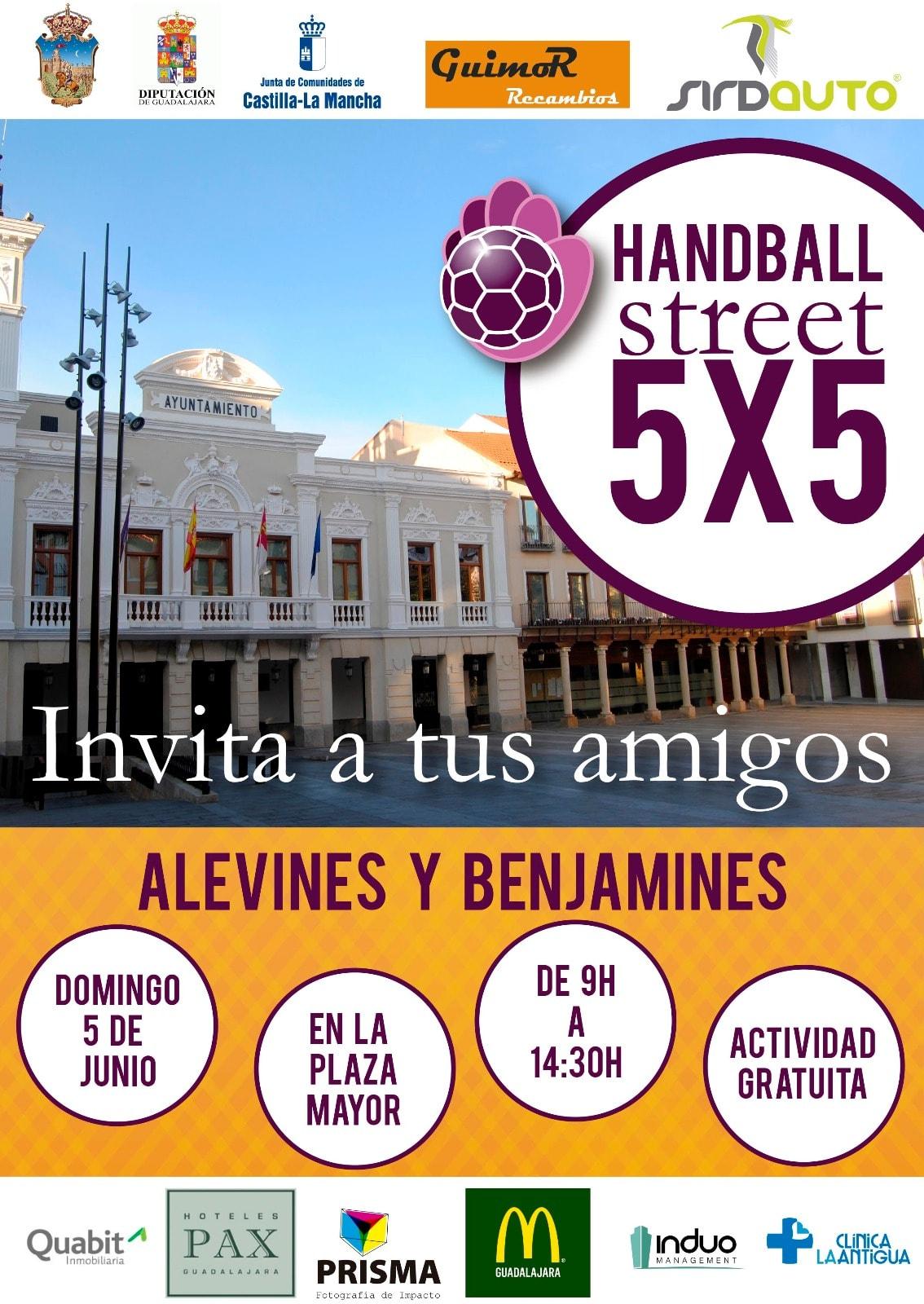 343 2016 Guadalajara Handball Street Spain5 Poster